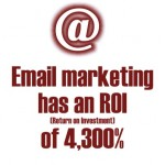 Email Marketing has an ROI (Return on Investment) of 4,300 Percent.