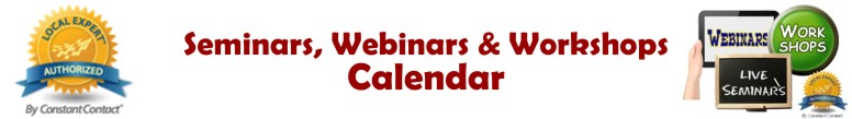Seminars, Webinars, and Workshops Calendar