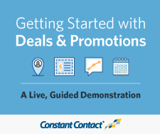Getting Started with Constant Contact Deals, Coupons, and Promotions